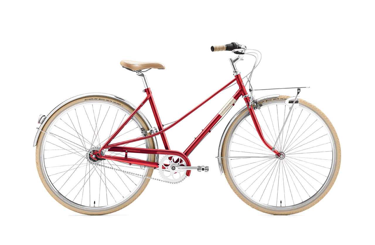 Creme caferacer Lady Solo Red 3speed