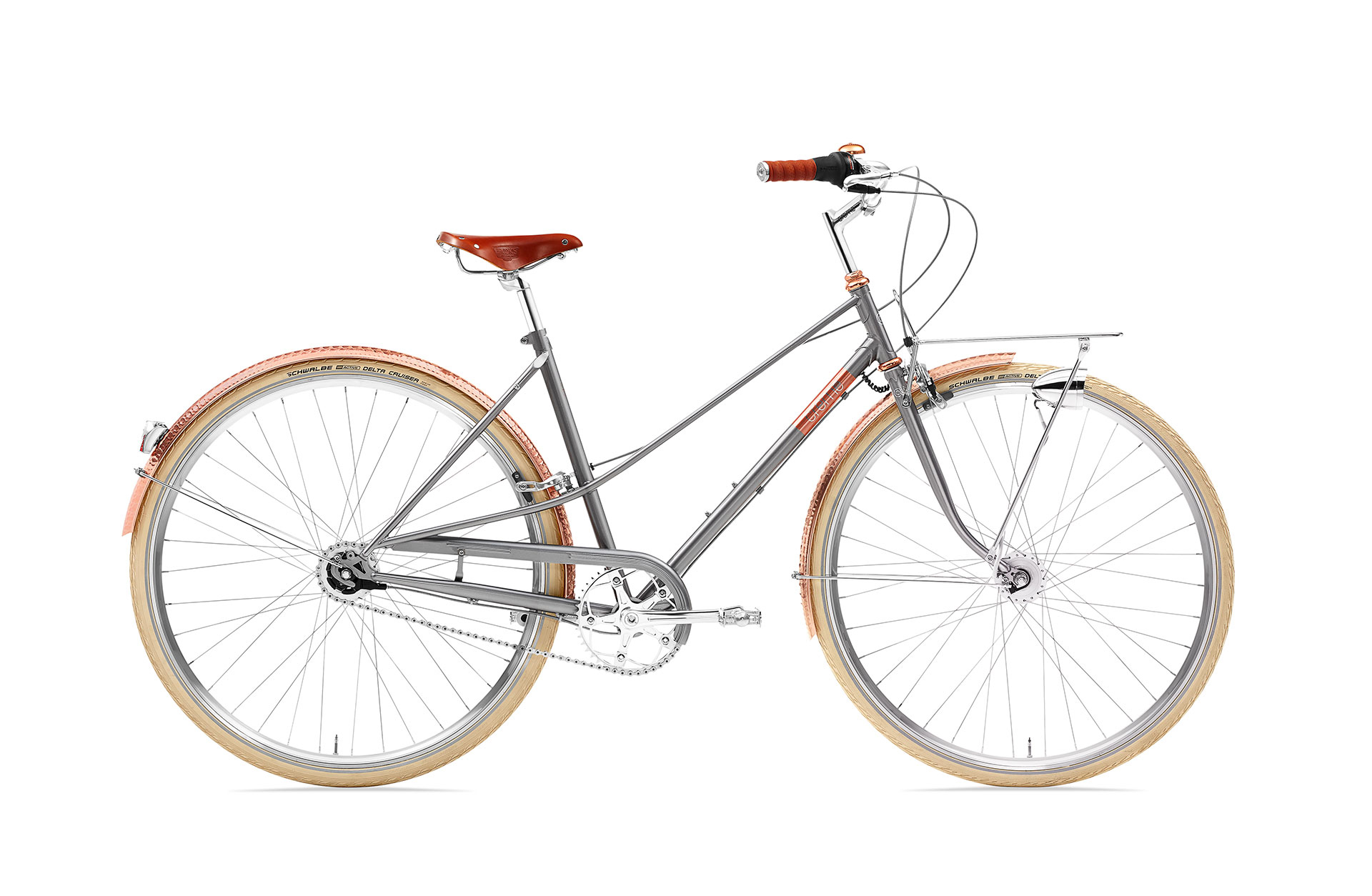 Creme Caferacer Lady Doppio Gray Rose Go by Bike