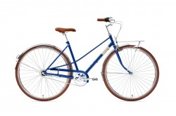 Bicicleta Cidade Creme Caferacer Solo Classic Blue (7 Speed) Go By Bike
