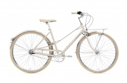 Bicicleta Clássica Cidade Urbana Creme Caferacer Lady Doppio Gold Champagne Go by Bike