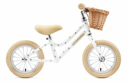 Bicicleta Equilíbrio Creme Cycles Mia White Unicorn 12'' Go By Bike