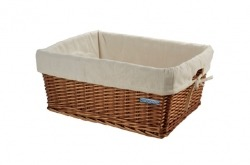 Cesto de bicicleta vime BRN Wicker Basket Natural Small Go By Bike