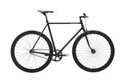 Bicicleta Singlespeed Creme Vinyl Uno Black Matt Go By Bike