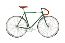 Bicicleta de Estrada Creme Vinyl Doppio Dark Green Single Speed Go By Bike