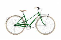 Creme Caferacer Lady Solo Emerald Go by Bike