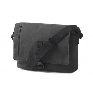 Creme Messenger Bag Charcoral Grey Go By Bike