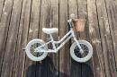 Bicicleta Equilíbrio Creme Cycles Mia White Unicorn 12'' Go By Bike